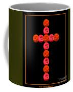 Cross Of Red And Orange Roses Coffee Mug