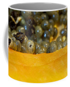 Cross Section Of A Cut Papaya With The Fruit And The Seeds Coffee Mug
