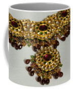 Cross Section Of A Purple And Yellow Gold Beautiful Necklace Coffee Mug by Ashish Agarwal