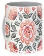 Cross Stitch Roses Coffee Mug