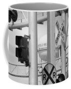 Crossing Signs In Black And White  Coffee Mug