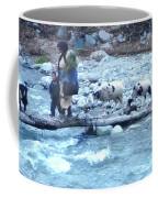 Crossing The Ourika River Coffee Mug