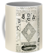 Crossword Puzzle, 1913 Coffee Mug