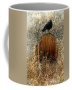 Crow On Old Wooden Grave Coffee Mug