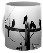 Crows And Insulators On Route 66 Coffee Mug