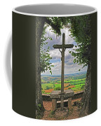 Crucifix Overlooking The French Countryside Coffee Mug