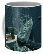 Cruiser In Santorini Island Coffee Mug