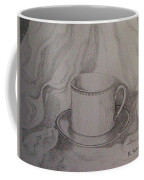Cup And Saucer On Material Coffee Mug