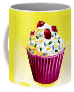 Cupcake With Cherries Coffee Mug