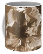 Curly Hibiscus In Sepia Coffee Mug