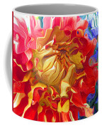 Red And Yellow Dahlia Coffee Mug