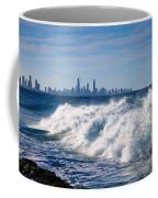 Currumbin Beach Waves On Rocks Coffee Mug