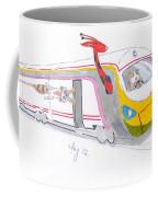 Cute Cartoon High Speed Train And Animals Coffee Mug