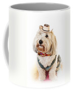 Cute Dog In Halloween Cowboy Costume Coffee Mug