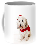 Cute Dog In Santa Outfit Coffee Mug
