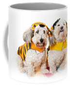 Cute Dogs In Halloween Costumes Coffee Mug by Elena Elisseeva