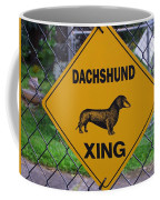 Dachshund Crossing Coffee Mug