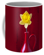 Daffodil In Red Pitcher Coffee Mug