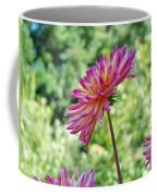 Dahlia Flower Art Print Green Summer Garden Coffee Mug