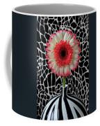 Daisy And Graphic Vase Coffee Mug