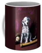 Dalmatian Puppy With Baseball Coffee Mug