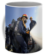 Damage Controlmen Conduct Fire Hose Coffee Mug