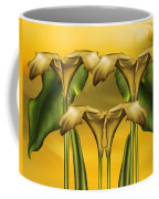 Dance Of The Yellow Calla Lilies Coffee Mug