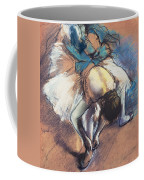 Dancer Fastening Her Pump Coffee Mug by Edgar Degas