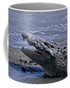 Danger On The Mara River Coffee Mug