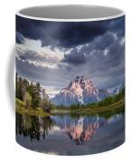 Darkening Skies Over Oxbow Bend Coffee Mug
