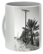 Date Palms On A Country Road Coffee Mug