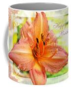 Daylily Greeting Card Birthday Coffee Mug