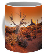 Dead Tree In Desert Monument Valley Coffee Mug