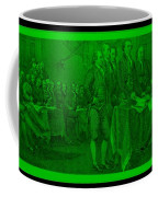Declaration Of Independence In Green Coffee Mug by Rob Hans