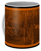 Declaration Of Independence In Orange Coffee Mug
