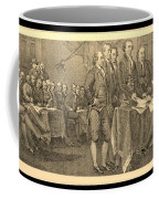 Declaration Of Independence In Sepia Coffee Mug