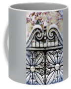 Decorative Iron Gate In Winter Coffee Mug