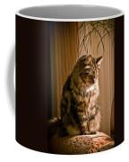 Deep In Kitty Thought Coffee Mug