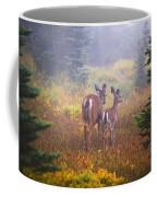 Deer In The Fog In Paradise Park In Mt Coffee Mug