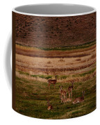 Deer In The Golden Meadow Coffee Mug