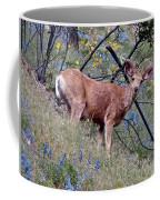Deer Standing In Wildflowers Coffee Mug