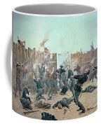 Defending The Fort Coffee Mug by Charles Schreyvogel