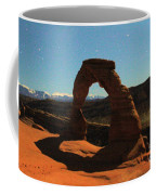 Delicate Arch Under Moonlight Coffee Mug
