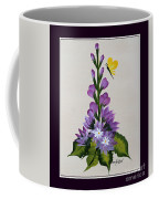 Delphenium And Butterfly Coffee Mug