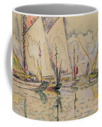 Departure Of Tuna Boats At Groix Coffee Mug by Paul Signac
