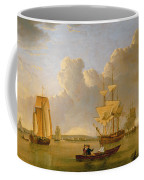 Deptford On Thames With A Distant View Of Greenwich Coffee Mug by John of Hull Ward