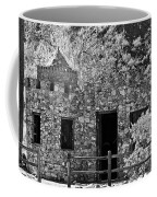 Desert Castle Black And White Coffee Mug