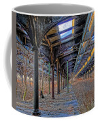Deserted Railroad Platforms Coffee Mug