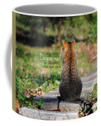 Determined Encouraging Cat Photo Coffee Mug
