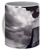 Devils Tower Wyoming Bw Coffee Mug